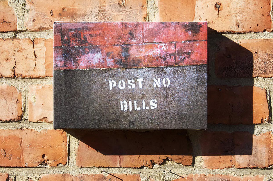 post no bills canvas wall print from new york city street sign interior decor