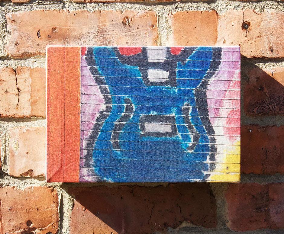 blue guitar music lover gift wall decor canvas print graffiti street art
