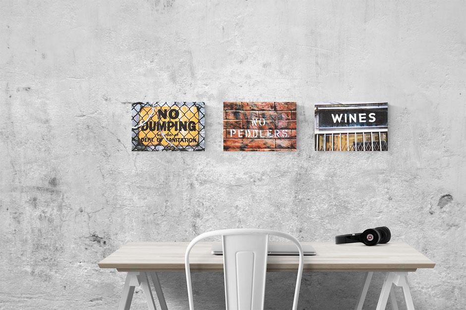 new work small canvas print humour interior design wall decor