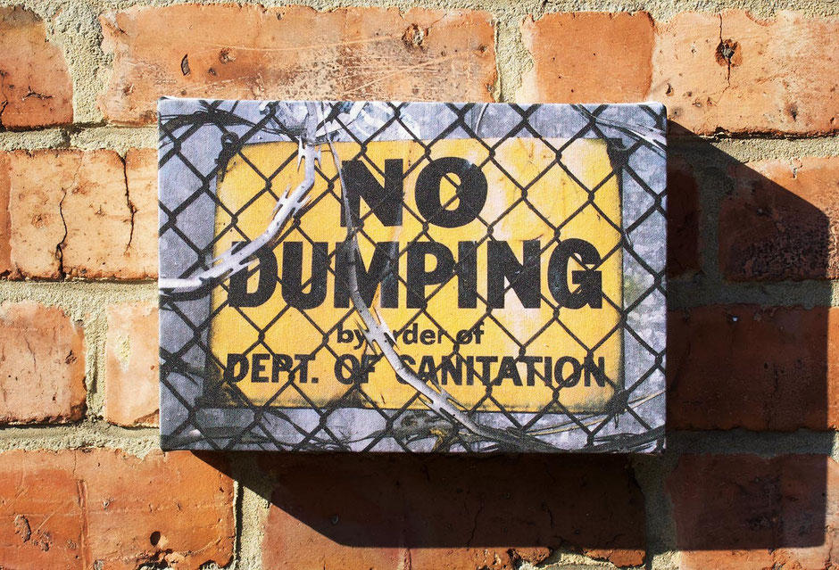 no dumping fun humourous funny canvas wall print decor teenagers bedroom gift