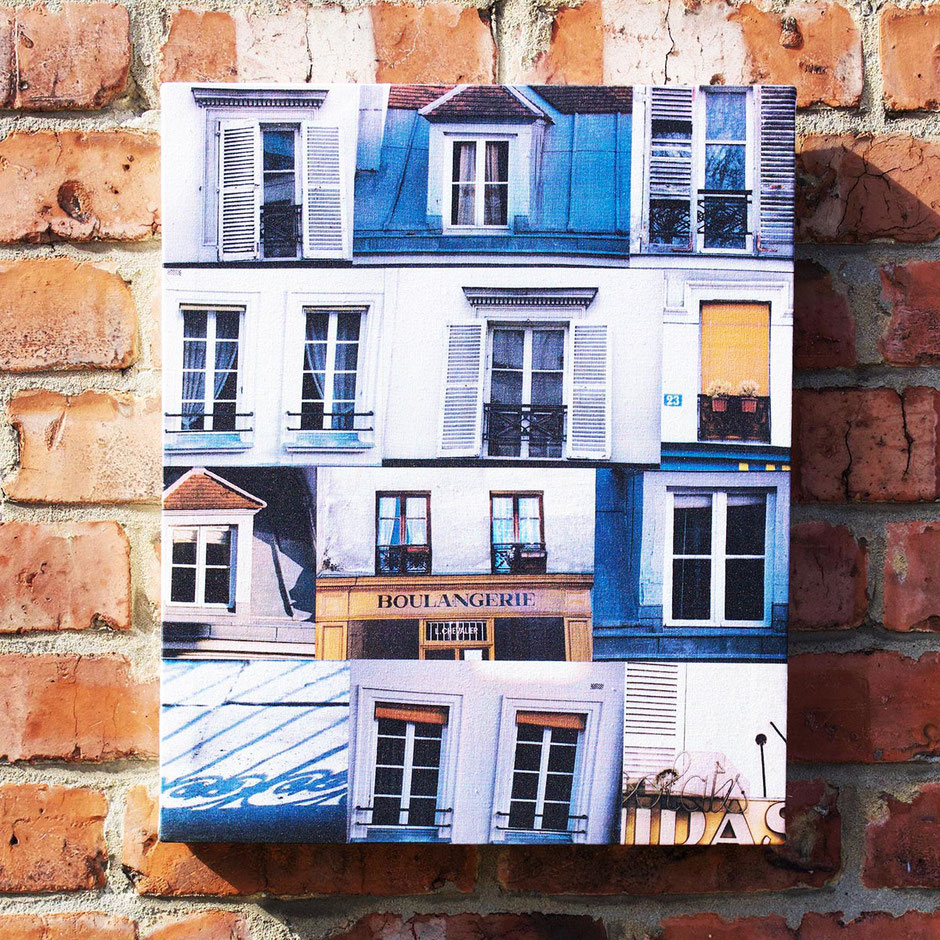 boulangerie paris windows photo montage warm sunny canvas wall decor print