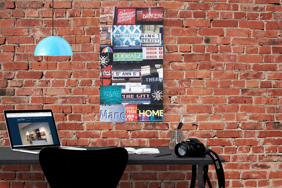 manchester courage interior design wall decor photo montage canvas