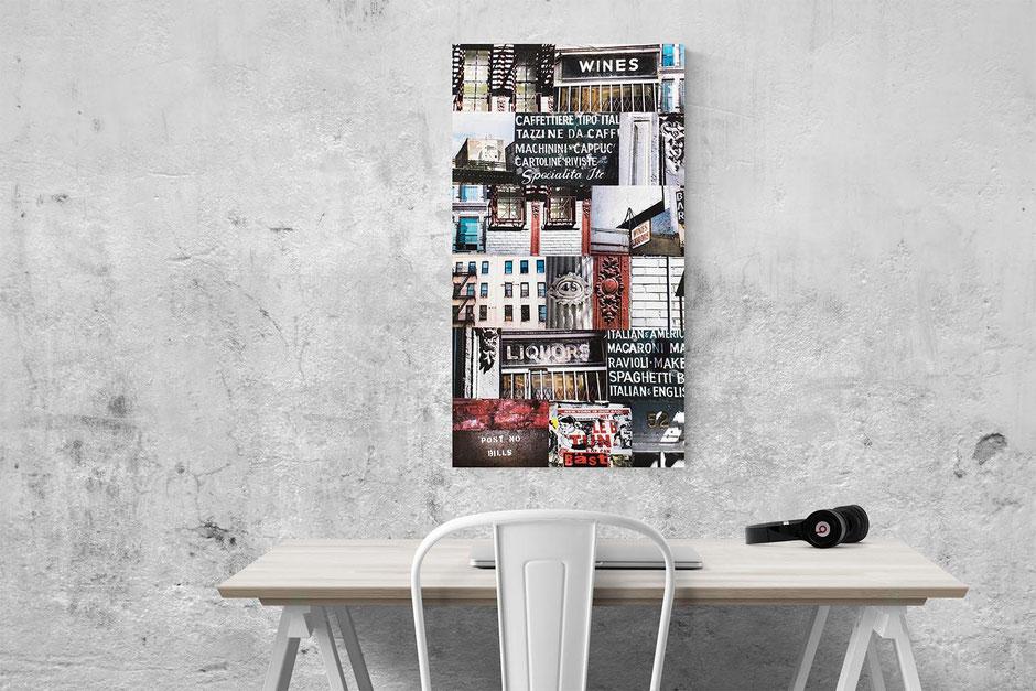 new york large statement piece interior wall decor photo montage canvas