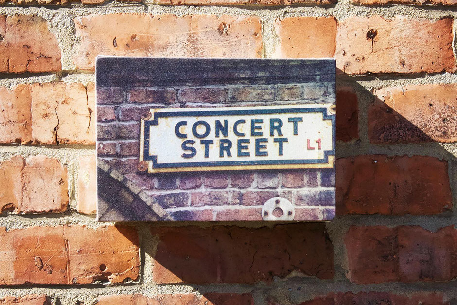 concert street canvas wall print gift for music lover teenager musician band member wall decor
