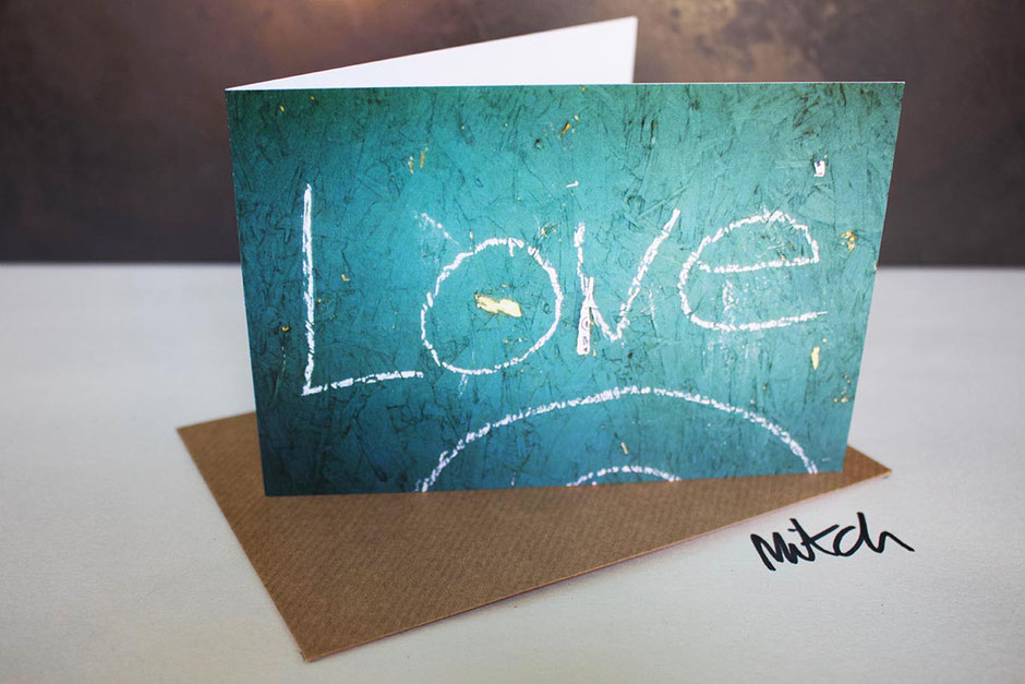 lovelove graffiti blank inside greeting card valentine card partner husband wife girlfriend boyfriend fiancee