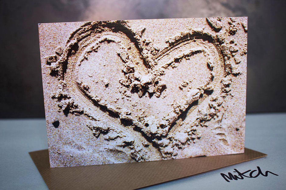 heart in the sand blank inside greeting card holiday thankyou valentines day boyfriend girlfriend partner husband wife