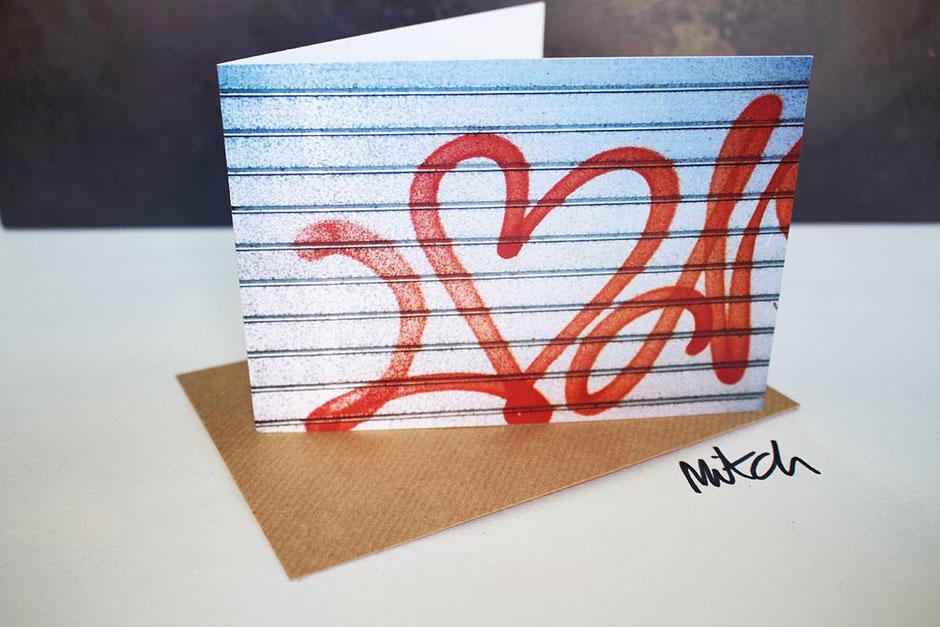 graffiti heart blank inside greeting card valentines day card partner lover husband wife girlfriend boyfriend love