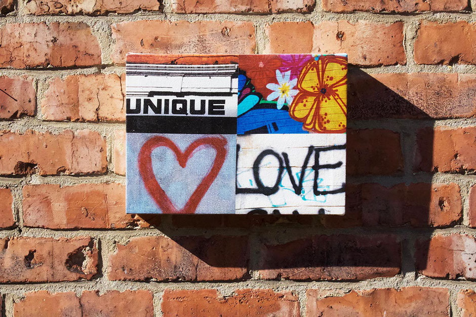 unique love grafitti canvas art photo montage gift present wife husband lover partner girlfriend boyfriend heart