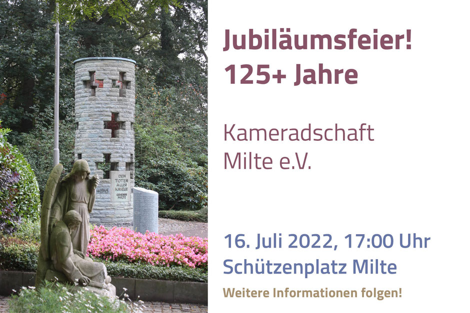 Kameradschaft ehemaliger Soldaten Jubiläum 125 Jahre