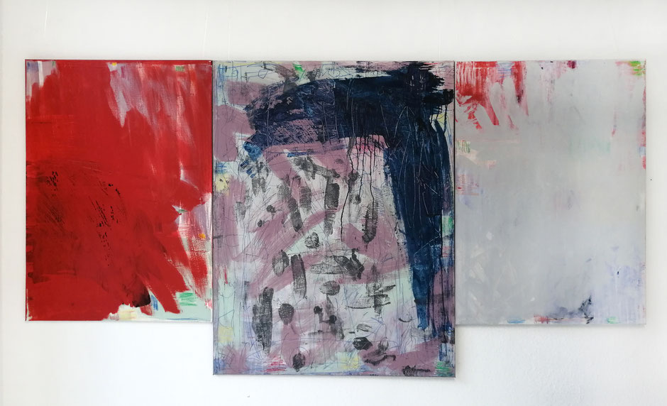 Bild Udo Makulla, Triptychon, Mixed Media