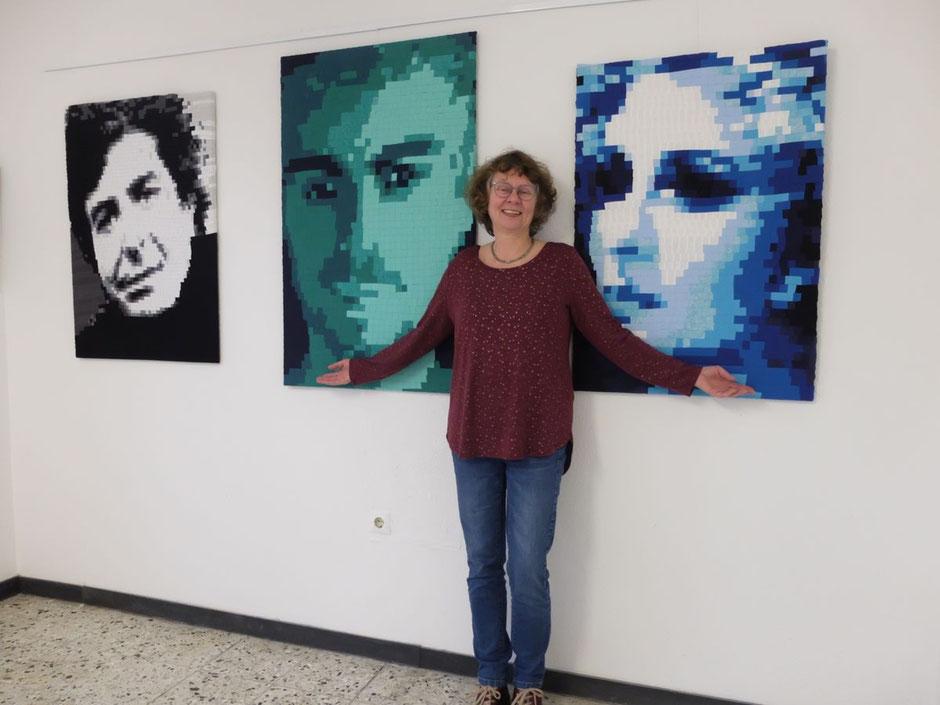 Barbara Philipp in der Galerie Camino, Bild Siegener Zeitung - Kultur - 6.3.2020