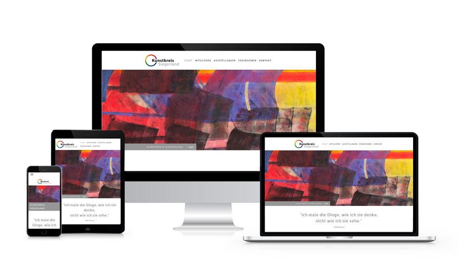 Kunstkreis Siegerland, Responsive Design, Computer, Laptop, Tablet, Smartphone