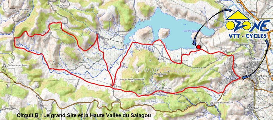 circuit vélo Hérault Lac du Salagou vélo électrique oenotourisme vignoble coteaux du Languedoc  terrasses du Larzac