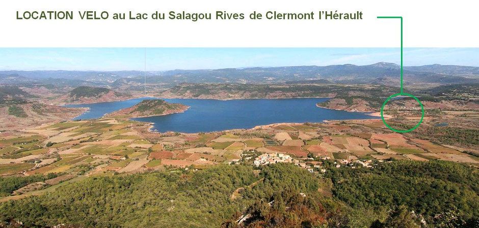 Location VTT lac du Salagou