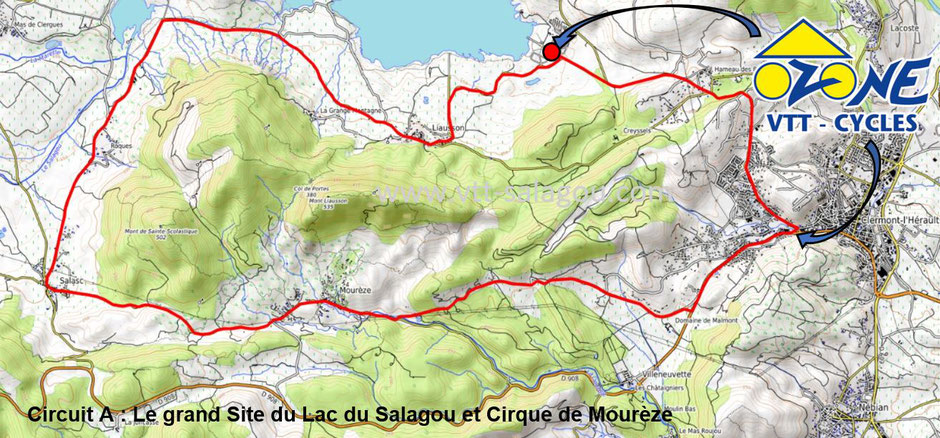 Balade à vélo et vélo électrique Hérault Occitanie circuit vélo de route Hérault Salagou