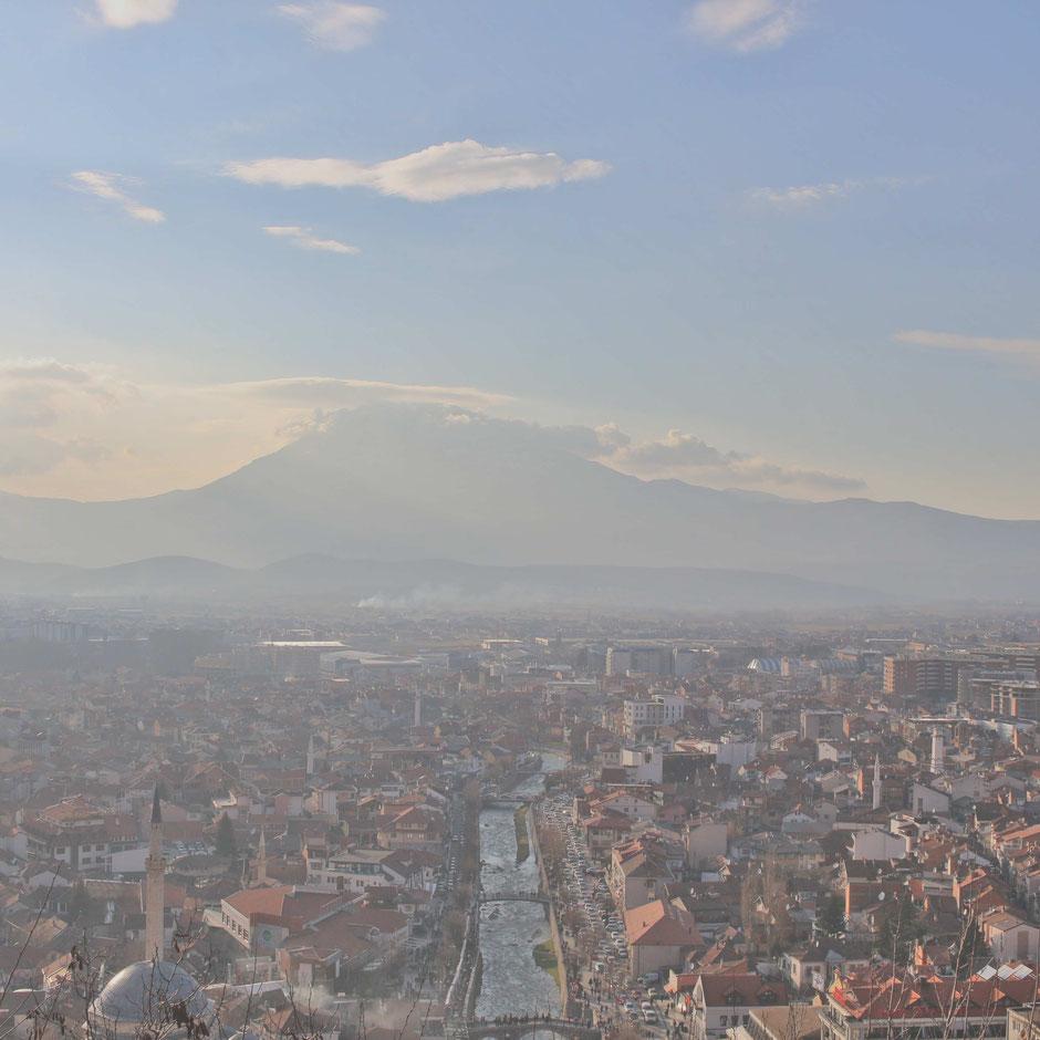 Prizren (Kosovo) von oben