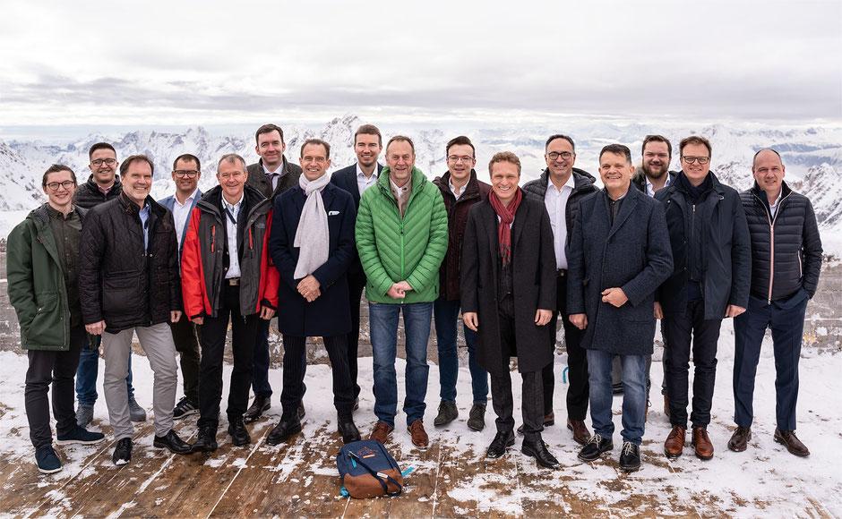 Gruppenbild Zahngipfel 2019 Zugspitze