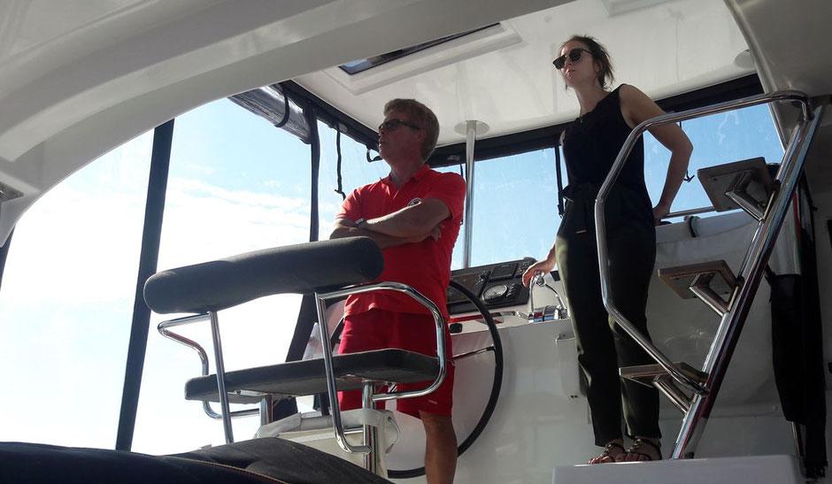 Katamaran Lagoon 42, Katamarantraining, Katamaran Training, Hafenmanöver, Katamaranmanöver, Skippertraining, Skipper Training, Hafenmanövertraning, Kanaren, Kroatien