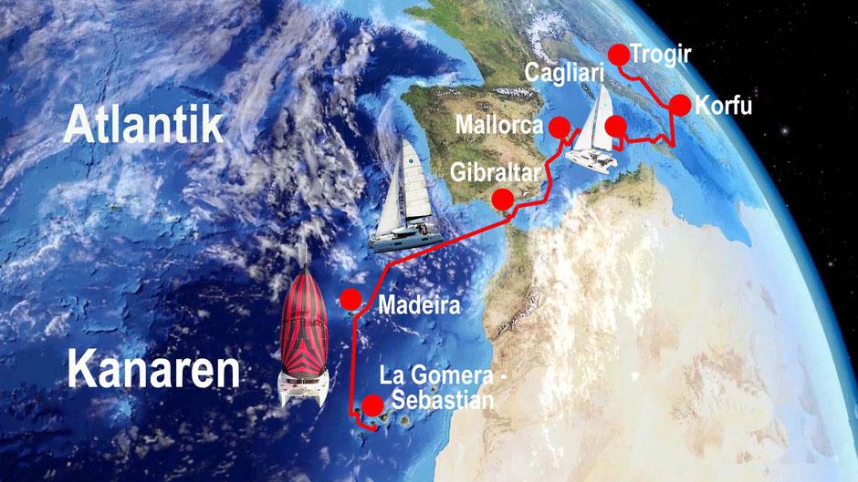 Hochseesegeln, Mitsegeln Mittelmeer, Mitsegeln Atlantik, Katamaran Lagoon 42, Skippertraining, Katamarantraining Kanaren, Katamarantraining Kroatien, Mitsegeln, Überführung, Segelurlaub, Segelreise,