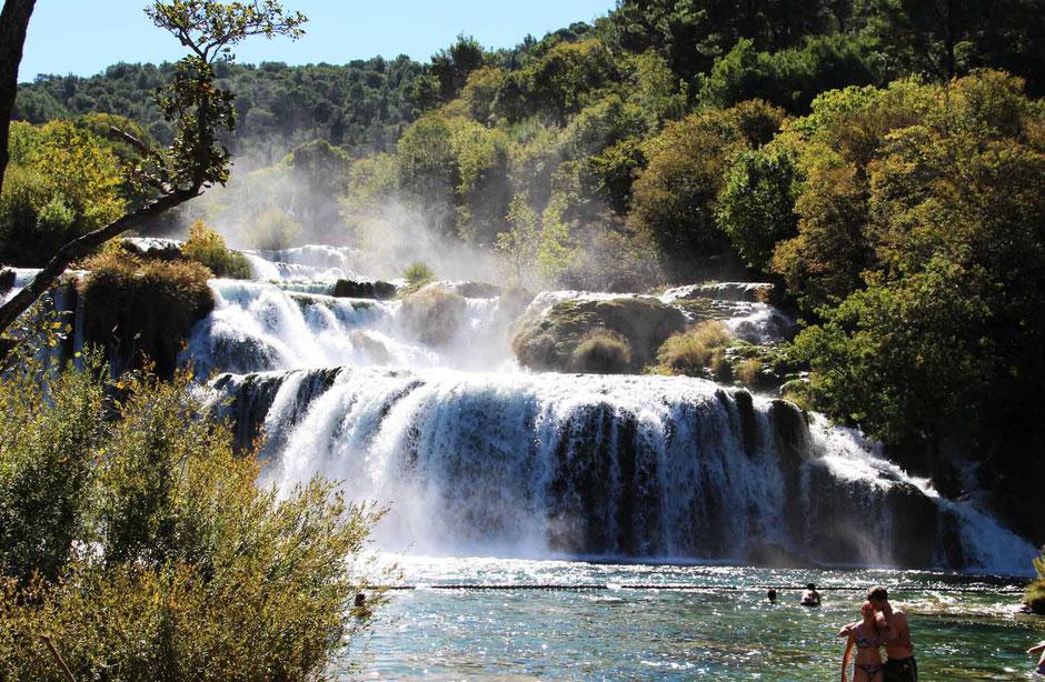Krka Wasserfallen, Skradin, Charter, Lagoon 42, Katamaran