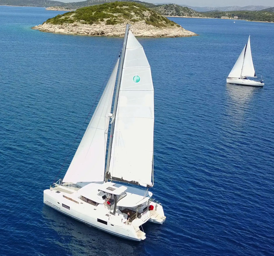 Lagoon 42, katamaran, Charter,  skipper, Koratien, Kanaren, Mitsegeln, Hochseesegeln, Urlaub