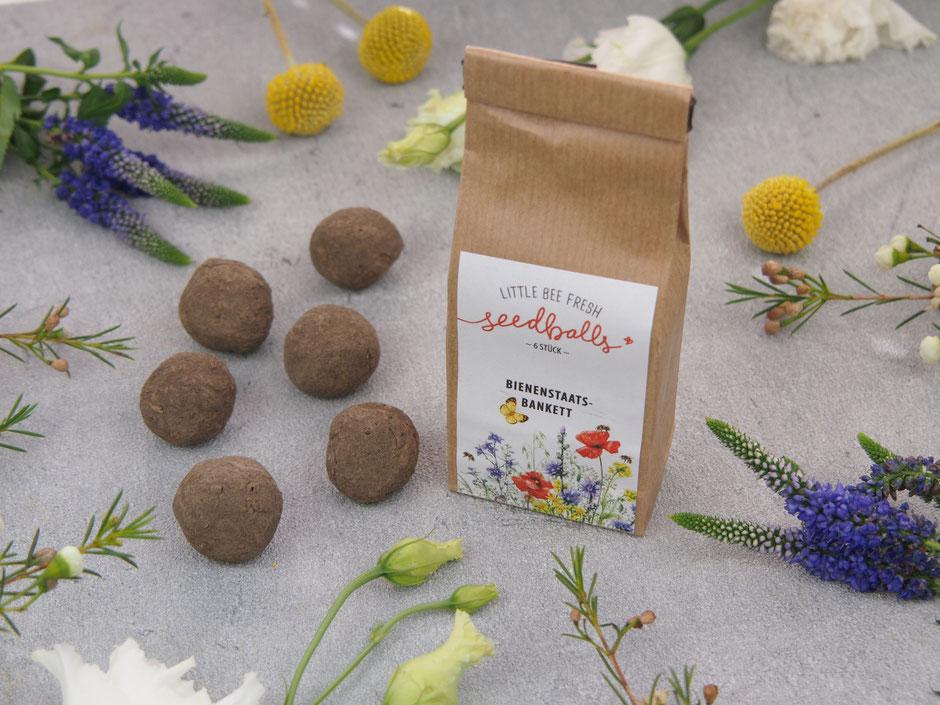 Seedballs mit Blumenmischung für Bienen, Hummeln & Co.