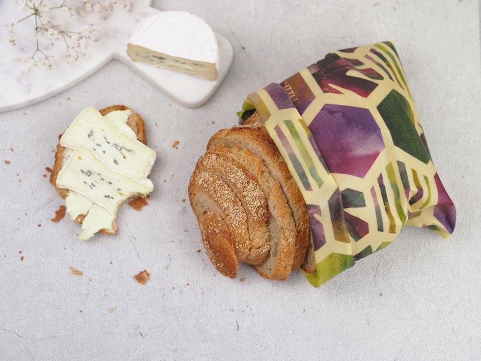 Bienenwachstuch selbermachen und Brot plastikfrei frisch halten