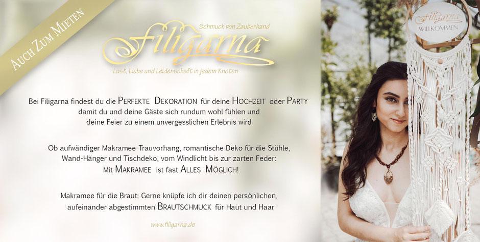 Braut und Bräutigam fühlen sich wohl mit Hochzeitsdeko von Filigarna aus Erlangen, bis in die Region Nürnberg, Bamberg, Forchheim und Umgebung