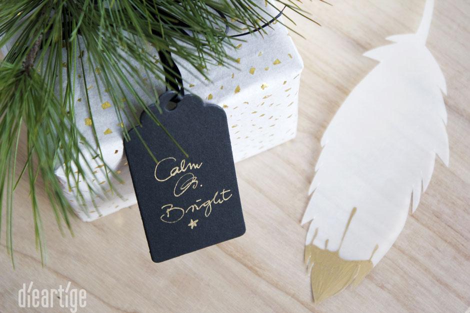 dieartigeBLOG - Papier-Feder, transparent, schnell, Geschenk, gold