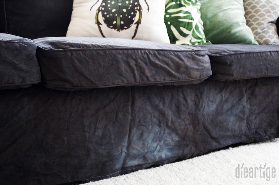dieartigeBLOG - Herbst - 'Marmorlook'' auf dem Sofa