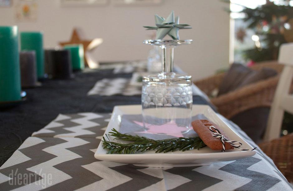 dieartigeBLOG - Heiligabend gedeckter Tisch