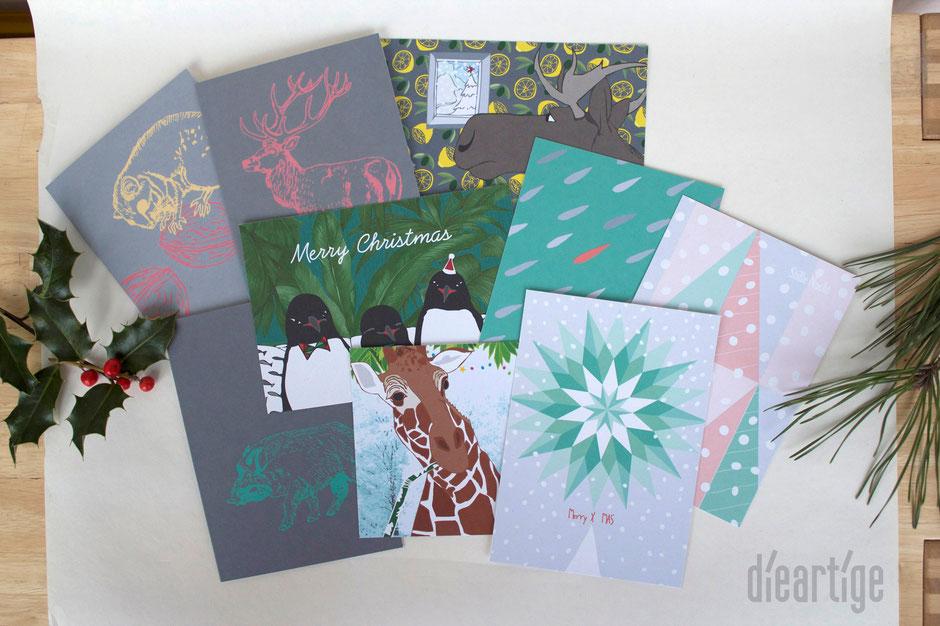 dieartigeBLOG - Weihnachtskarten // Christmas Edition 2015