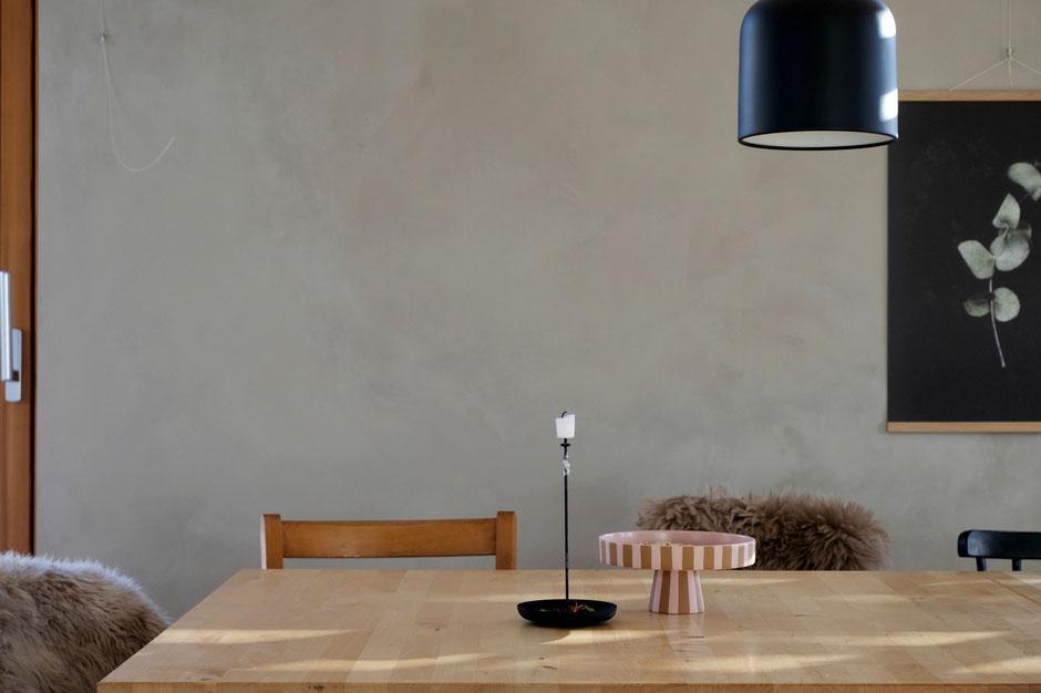 dieartige // Design Studio - Kalkfarbe von kalklitir, celadon primo, makeover, Esszimmer, Küche, Wohnzimmer, wallcolor, walldekor