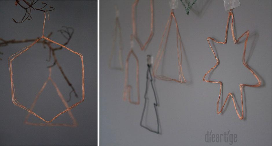 dieartigeBLOG - DIY Draht Gebaumsel aus (Kupfer)Draht, modern, schlicht & edel, Drahtstern