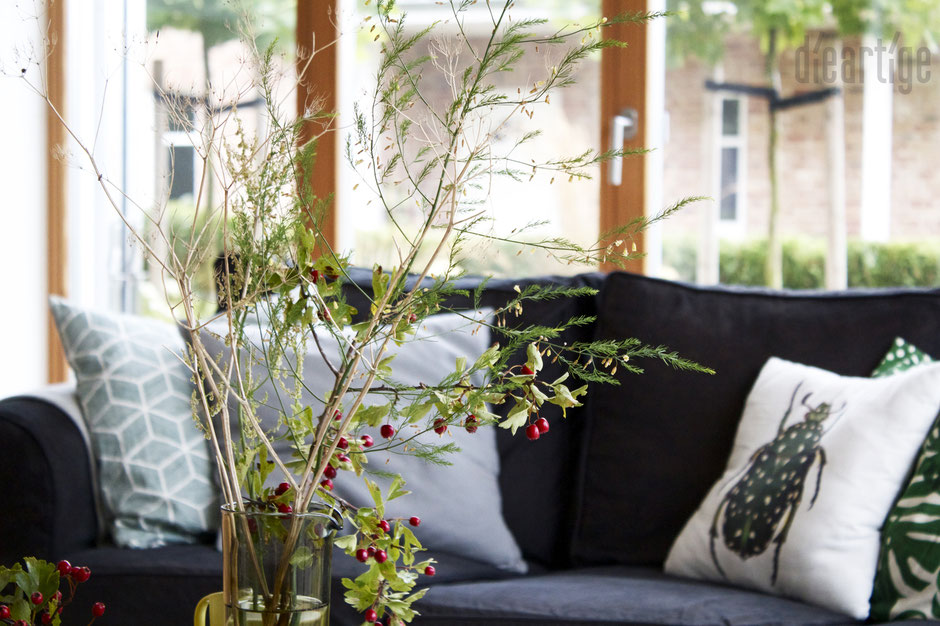dieartigeBLOG - Herbst - Weißdornbeerenrot, Spargelblattgrün + Trockenstrohgelb