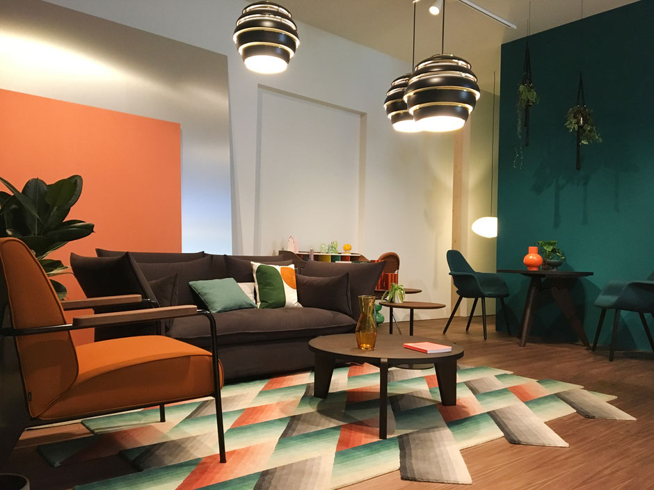 dieartigeBLOG - IMM Cologne 2019 - Orange, Braun+Petrol bei Vitra
