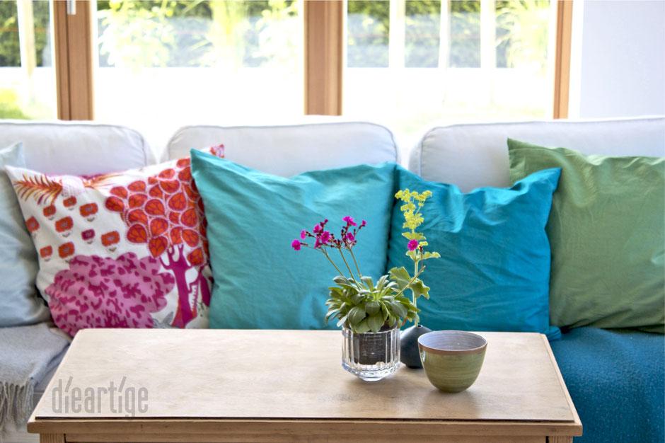 dieartigeBLOG - Sommerfarben, türkis, hellblau, blau, grün pink