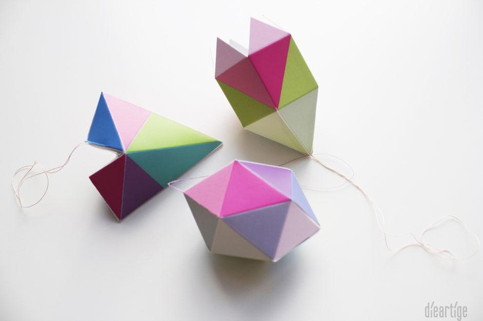 dieartigeBLOG - Postkarten zum Zusammenbauen, Nachhal(l)tigkeit, Papierdekoration, Origami