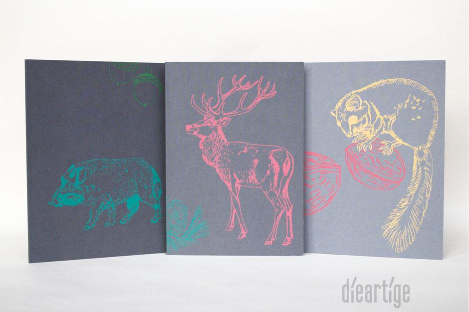 dieartigeBLOG - Klappkarten für Wintergrüße und zum WeihnachtsFest