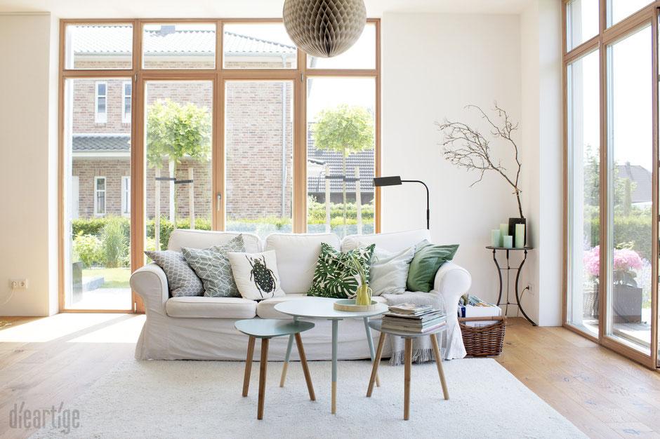 dieartigeBLOG - Sommer - Aquatöne + Dschungelmuster im Wohnzimmer