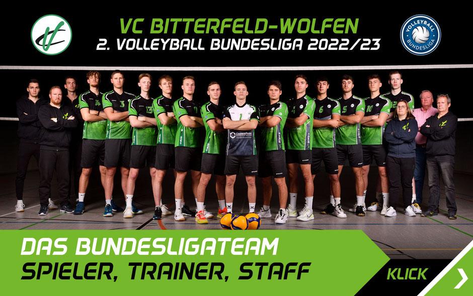 Mannschaft Team Trainer Stuff  2. Volleyball Bundesliga VC Bitterfeld-Wolfen