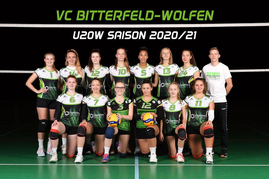 Volleyball U20 weiblich des VC Bitterfeld-Wolfen