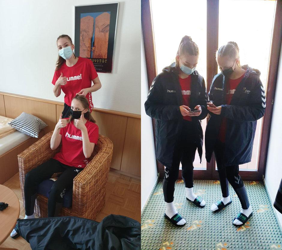 Liebe Grüße in die Heimat. Klara und Johanna starten ins Abenteuer Jugend-Nationalmannschaft