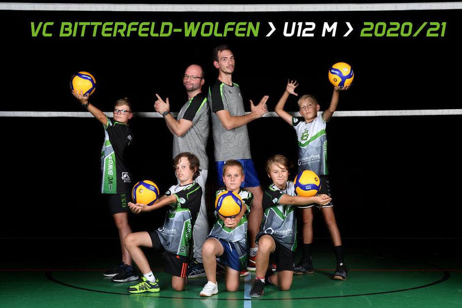 U12 männlich Jugend Nachwuchs Team des VC Bitterfeld Wolfen 2020 2021