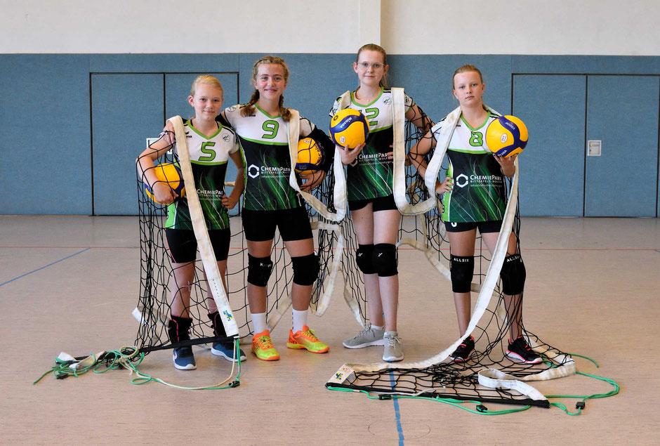 Mannschaft Team U13 weiblich, Nachwuchs des VC Bitterfeld-Wolfen