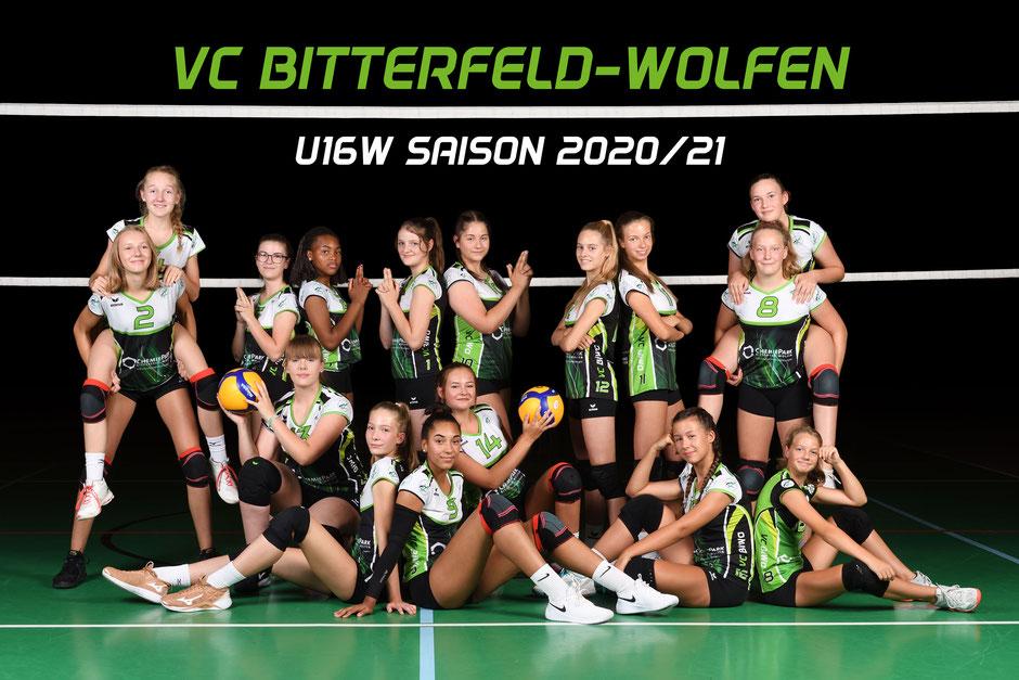 Volleyballteam U16 weiblich des VC Bitterfeld-Wolfen