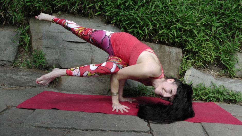 Eine Armbalance fühlt sich immer ein bisschen wie fliegen an!