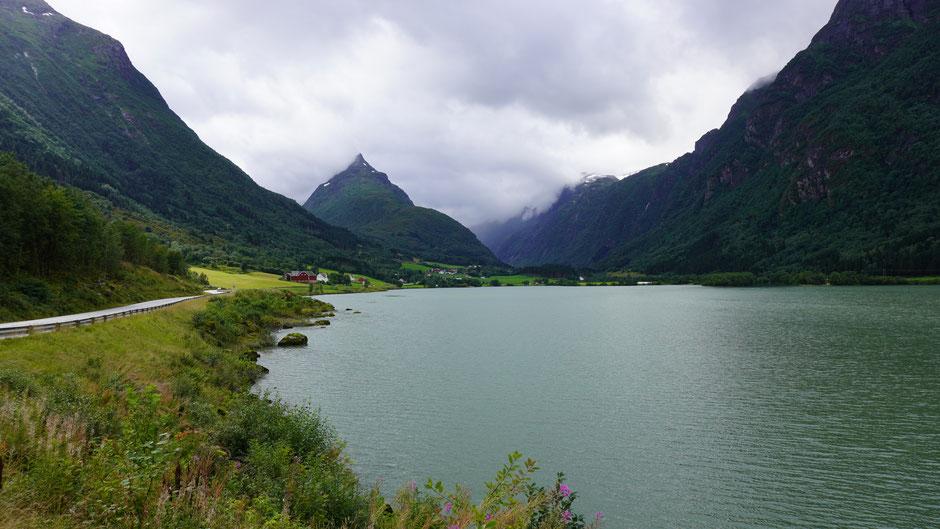 Richtung Jostedaalsbreen-Nationalpark