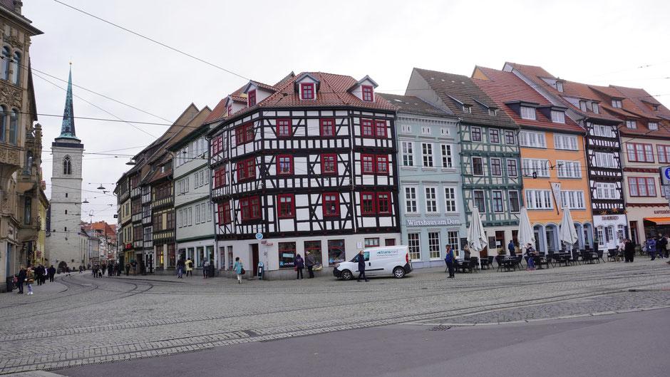 Ein Blick in die Erfurter Altstadt
