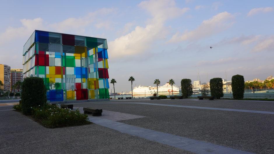 Hafengegend von Malaga ...